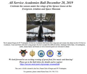 All Service Academies Ball invitation